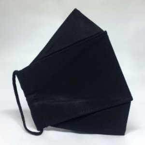 Kit de 3 Máscaras 3D Preta - TRIPLA Camada