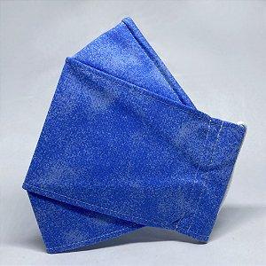 Máscara 3D Poeirinha Azul - Tripla Camada