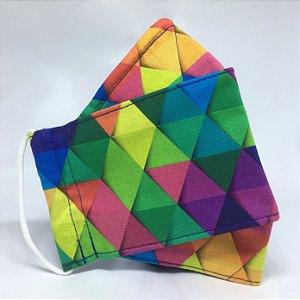 Máscara 3D Coloridassa - Tripla Camada