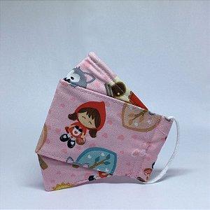 Máscara 3D Infantil da Chapeuzinho Vermelho - Tripla Camada