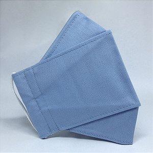 Máscara 3D Azul Claro - Tripla Camada