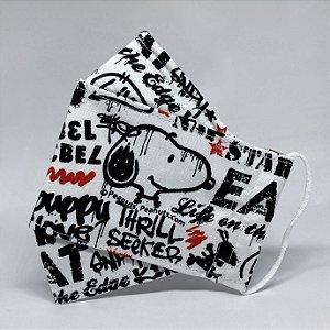 Máscara 3D Snoopy Grafite Urbano - Tripla Camada
