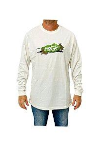 Camiseta High Longsleeve Lunch Branco