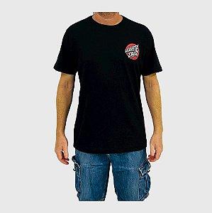 Camiseta Santa Cruz Damaged Dot Preto