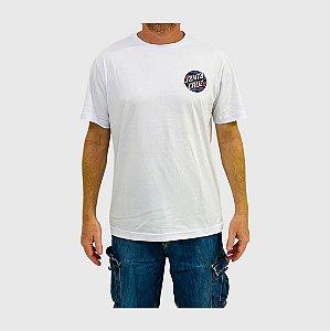 Camiseta Santa Cruz Strip Stripe Dot Branco