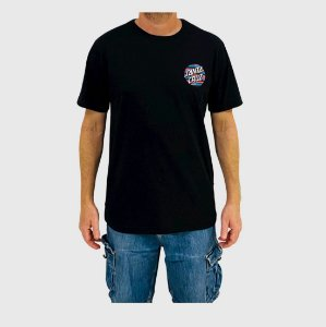 Camiseta Santa Cruz Strip Stripe Dot Preto