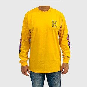 Camiseta Huf Manga Longa Screw Head Amarelo
