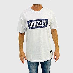 Camiseta Grizzly Paisley Stamp Logo Branco