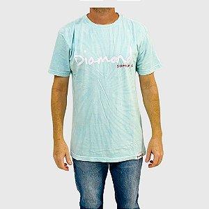Camiseta Diamond Og Script Tie Dye Azul