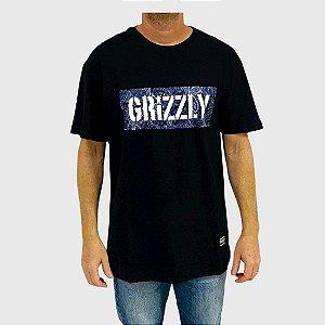 Camiseta Grizzly Paisley Stamp Logo Preto