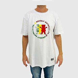 Camiseta Grizzly Faceoff Branco