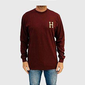Camiseta Huf Manga Longa Monogram Classic H Vermelho