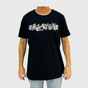 Camiseta Creature Slab Diy Preta