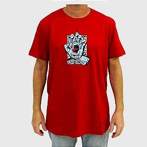 Camiseta Santa Cruz Flier Hand Vermelha