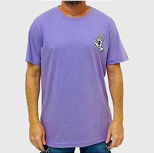 Camiseta Santa Cruz Amoeba Hand Roxo