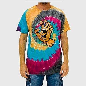 Camiseta Santa Cruz Especial Opus Overlay Hand Front Tie Dye