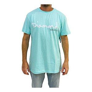Camiseta Diamond Og Script Azul Masculina