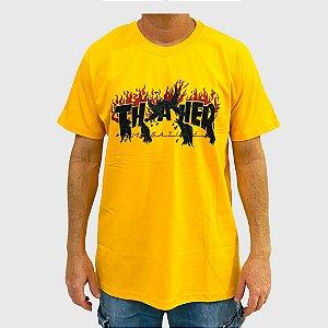 Camiseta Thrasher Crows Amarelo