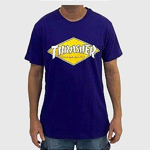 Camiseta Thrasher Diamond Logo Violeta