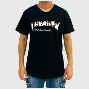 Camiseta Thrasher Intro Burner Preto