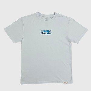 Camiseta Diamond Flower Box Logo Branco