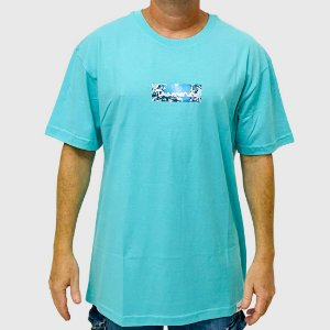 Camiseta Diamond Flower Box Logo Azul