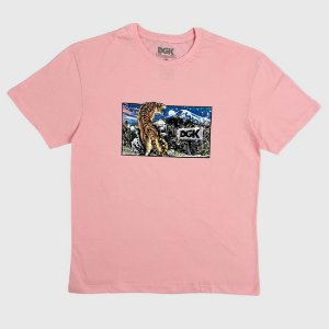 Camiseta DGK Big Cat Rosa