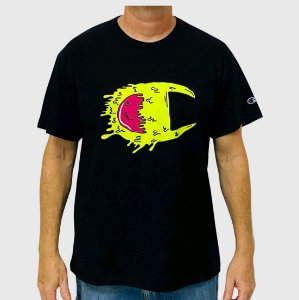 Camiseta Champion C Life Slime Ink Preto