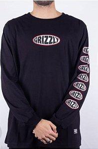 Camisa Manga Longa  Grizzly Bulge Long Sleeve Tee Black L (G)