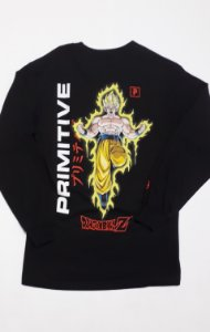 Camisa Primitive Manga Longa Dragon Ball Z Black P