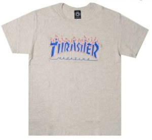 Camisa Thrasher Grey Flame Blue