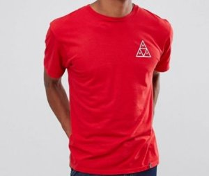 Camisa HUF Triple Triangle Red