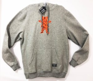 Moletom Grizzly Flaming Hot Bear Hoddie Heather Grey L (G)