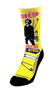 Meia Altai Punk Rock Amarela