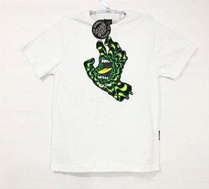Camiseta Santa Cruz Juvenil Kaleido Hand Branco Tam 14