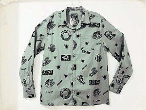 Camisa Santa Cruz Manga Longa This Fast Cinza G