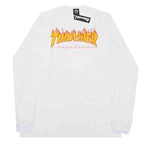 Camiseta Thrasher Manga Longa White Original