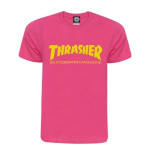 Camiseta Thrasher Skate Mag Rosa Original