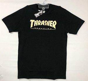 Camiseta Thrasher Especial Gold Foil Magazine Original