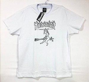 """Camisa Thrasher """"Drunk Witch"""" Branca"""