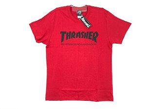 Camiseta Thrasher Logo Vermelho/ Preto
