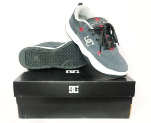 Tênis Dc Shoes Penza Grey And Red Original