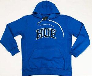 Moletom Huf Paisley Canguru Fechado Blue Original