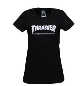 Camiseta Thrasher Black  Logo white Feminina