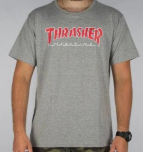 Camiseta Thrasher Outlined Cinza
