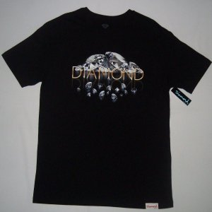 Camiseta Diamond Mirrored Preta Masculina