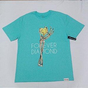 Camiseta Diamond Heart Of Azul Masculina