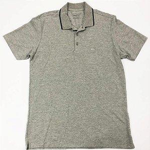 Camisa Quiksilver Polo Piquet Cinza Mescla