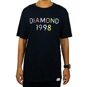 Camiseta Diamond Radiant Neon - Azul Marinho