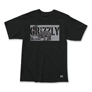 Camiseta Grizzly Paradise Preta